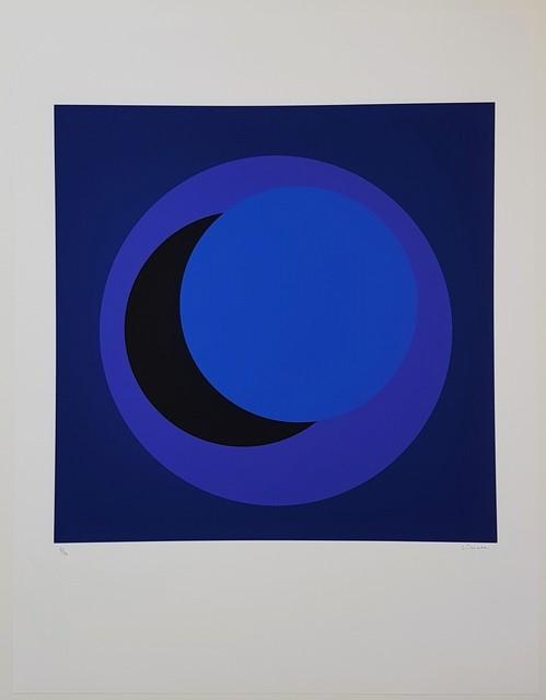Geneviève Claisse, 'Dark Blue Circle (Cercle bleu foncé)', 2015, Print, Giclee on hand made cotton paper, Cerbera Gallery