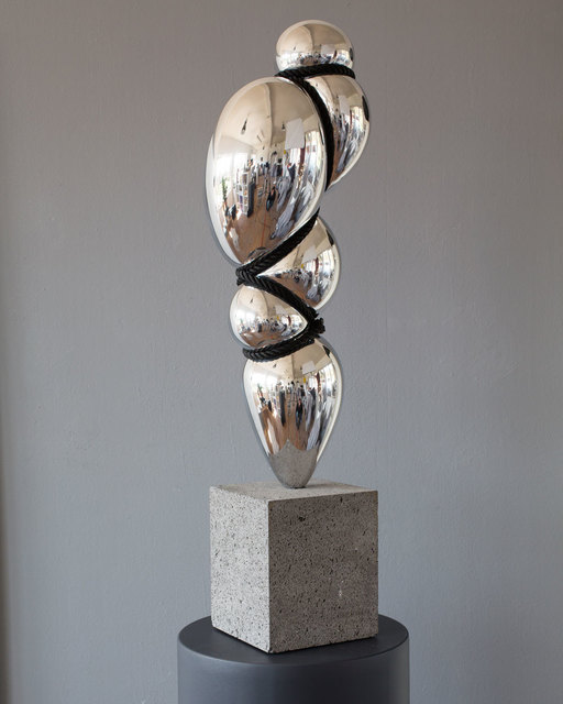 Stephan Marienfeld, 'Blow up II', 2021, Sculpture, Highly polished Aluminum with rope, Galerie Kellermann