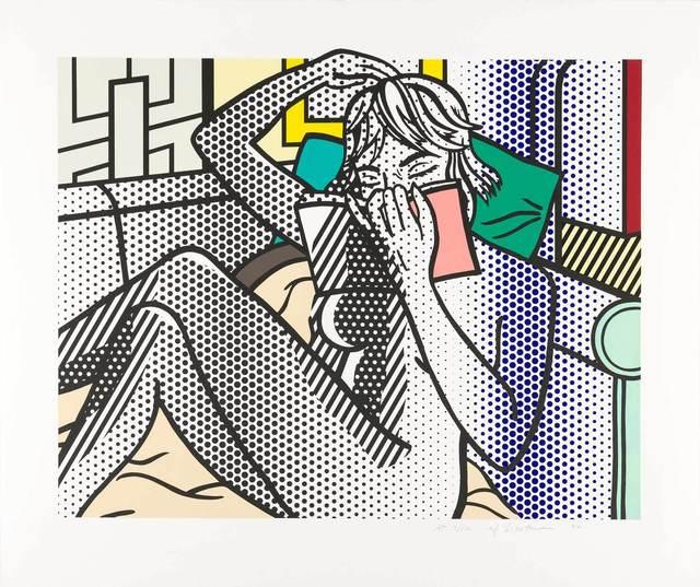 Roy Lichtenstein, 'NUDE READING (CORLETT 288)', 1994, Print, Color relief print, Doyle