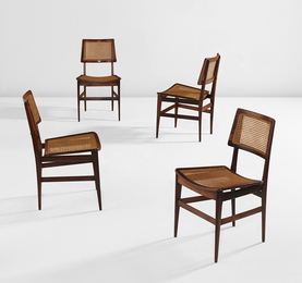 Joaquim Tenreiro, 'Set of four side chairs,' ca. 1960, Phillips: Design