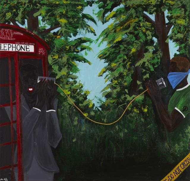 John Madu, 'Voices on strings ', 2020, Painting, Acrylic on canvas, CFHILL
