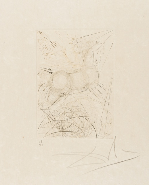 Salvador Dalí, 'Pegasus (from Quinze Gravures) (M&L 291b; Field 68-4-A)', 1968, Forum Auctions