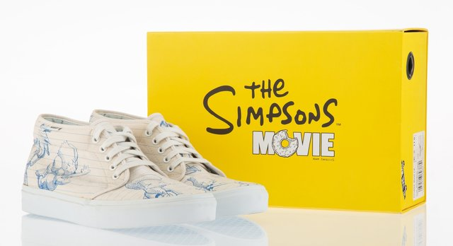 Kaws X The Simpsons X Vans The Simpsons Movie Chukka Boot Lx 2007 Artsy