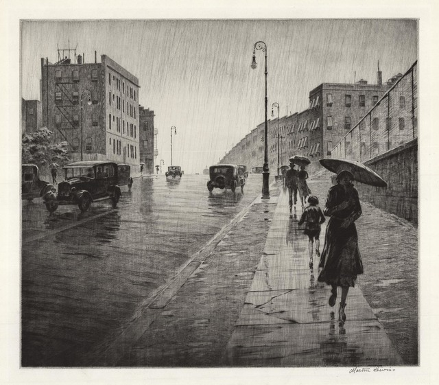 , 'Rainy Day, Queens.,' 1931, The Old Print Shop, Inc.