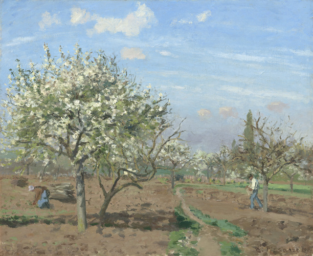 , 'Orchard in Bloom, Louveciennes,' 1872, Seattle Art Museum