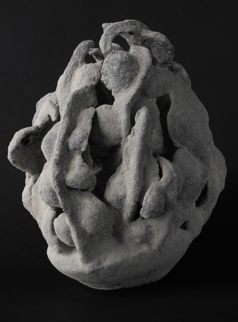 Katsumata Chieko, 'White chamotte-encrusted biomorphic sculpture in the form of a coral', 2015, Joan B. Mirviss Ltd.