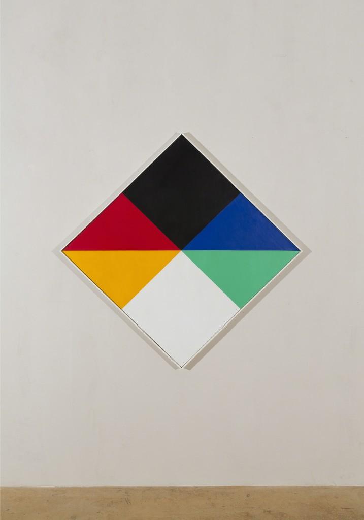 Max Bill, transcoloration im hellen und im dunkeln, 1965, oil on canvas, 113 x 113 cm (diagonal)