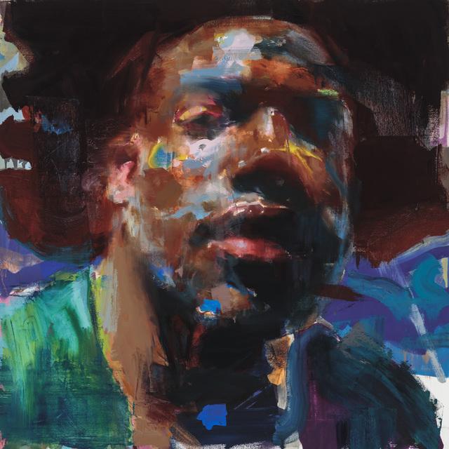 , 'Self Portrait in Blue and Maroon,' 2019, Galerie Olivier Waltman | Waltman Ortega Fine Art