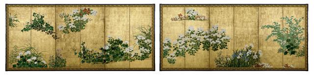 , 'Flowers of the Four Season (T-2065),' Edo Period (1615-1868) 18th Century, Erik Thomsen