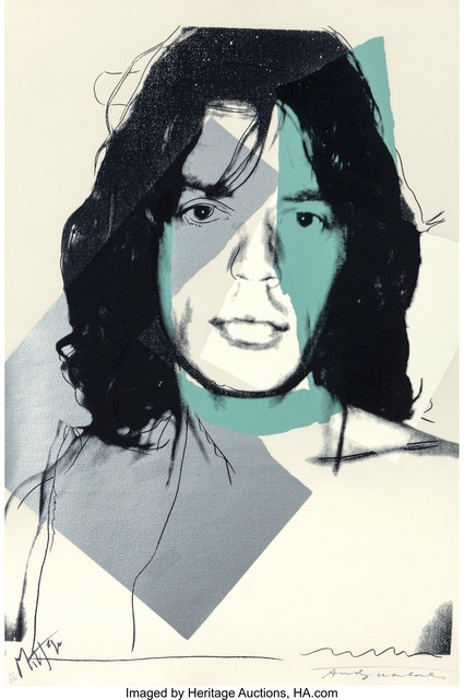 Andy Warhol, 'Mick Jagger', 1975, Print, Screenprint in colors on Arches Aquarelle paper, Heritage Auctions
