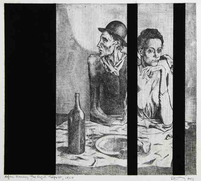 , 'Untitled (After Picasso, The Frugal Repast, 1904),' 2016, Cahiers d'Art