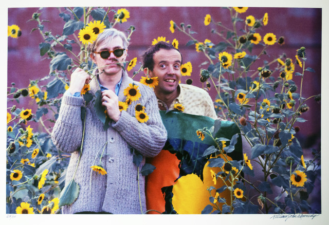 William John Kennedy, 'Andy Warhol and Taylor Mead with Flowers', 1964, William John Kennedy Collection