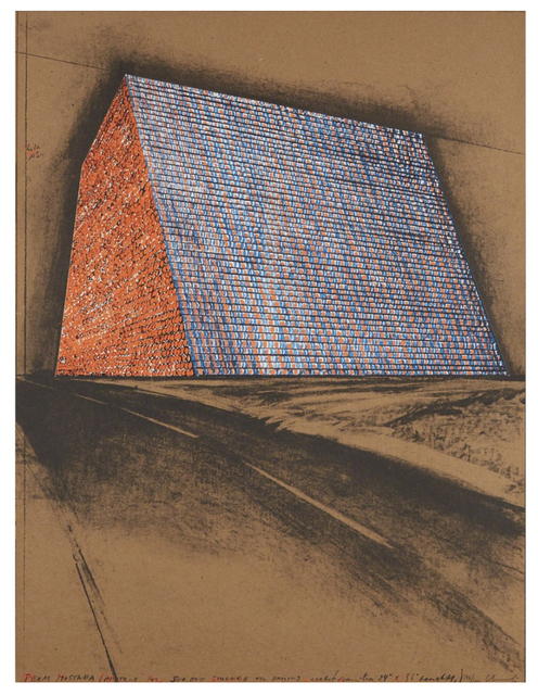 , 'Texas Mastaba, Project For 500,000 Stacked Oil Drums,' 1974, New Gallery of Modern Art