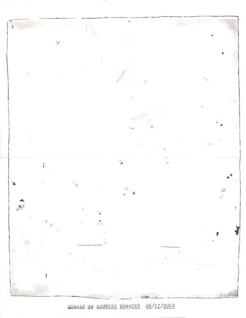 """, '""""Erased de Kooning Drawing"""" in the series """"Typewriter Drawings"""",' 2018, Catharine Clark Gallery"""