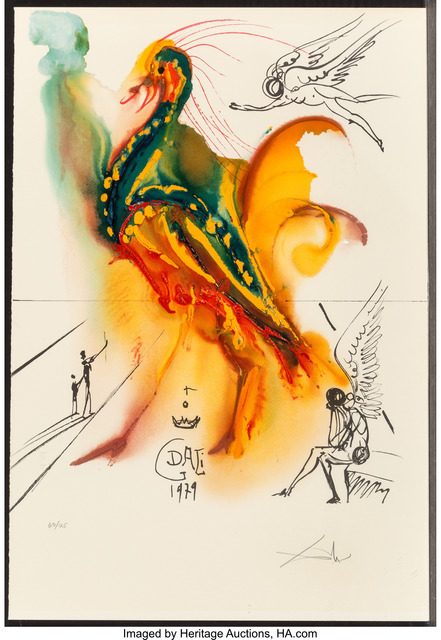 Salvador Dalí, 'Le grand pavon', 1996, Print, Offset lithograph in colors on Arches paper, Heritage Auctions