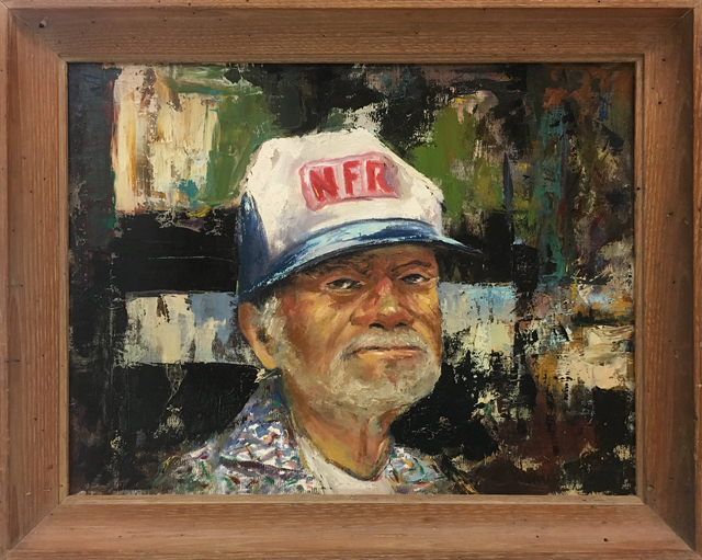 William Vincent Kirkpatrick, 'Portrait of Willie Nelson Farm Aid', Baterbys Art Gallery