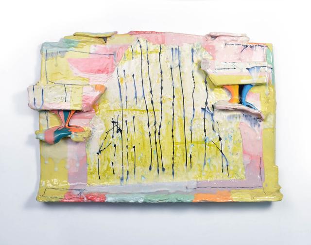 , 'Molten Veil Painting (Light Lime & Pink),' 2019, Ferrin Contemporary