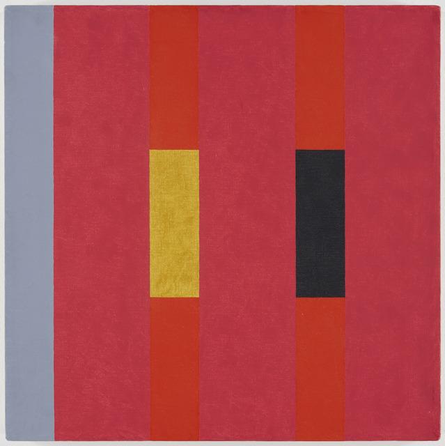Oli Sihvonen, '3x3 (yellow, deep greens, ochre on pink) (197)', Painting, Oil on canvas, David Richard Gallery