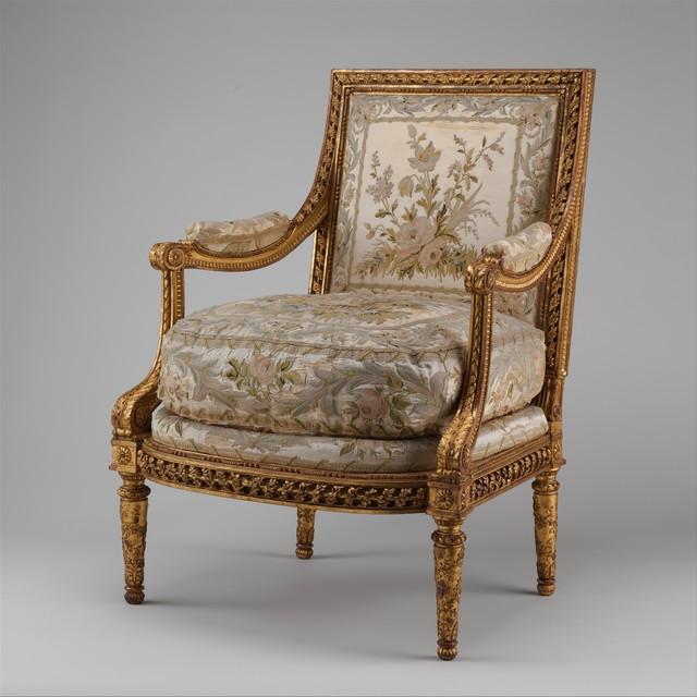 Joseph-François-Xavier Baudoin, 'Armchair (Fauteuil à la reine) (one of a pair)', ca. 1780–1785, The Metropolitan Museum of Art