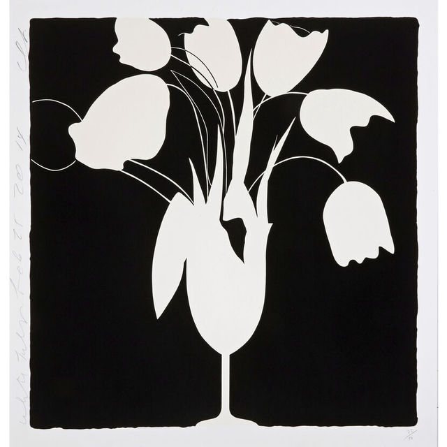 Donald Sultan, 'White Tulips and Vase', 2014, Artsnap
