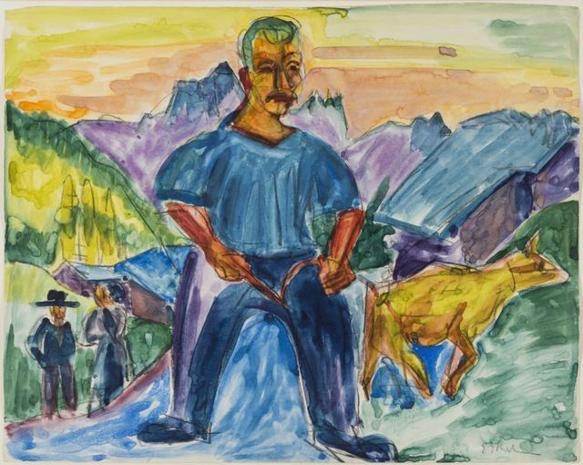 Ernst Ludwig Kirchner, 'Kuh und Treiber (Cow and Herder),' 1919, Galerie Thomas