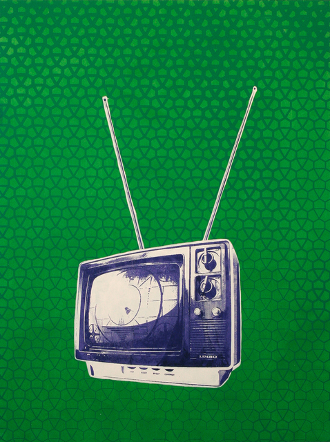 , 'TV on green,' 2015, Artêria