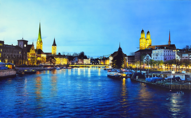 , 'Limmat River,' , Plus One Gallery