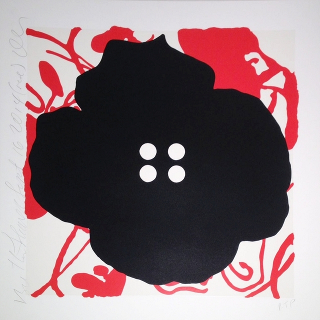 , 'Button Flower, Red, Sept. 16, 2014,' 2014, William Campbell Contemporary Art, Inc.