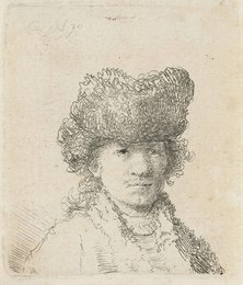 Self-Portrait in a Fur Cap: Bust