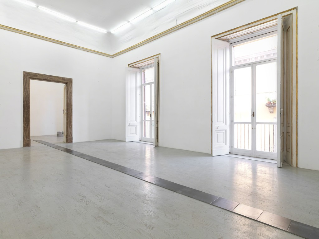 Carl Andre - partial view of the exhibition - September 2013 - Galleria Alfonso Artiaco, Napoli