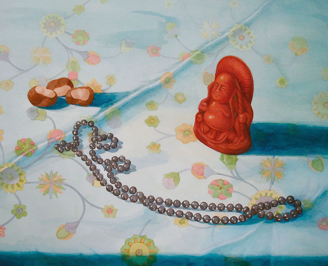 , 'Buddha with Beads and Chestnuts,' 2016, InLiquid