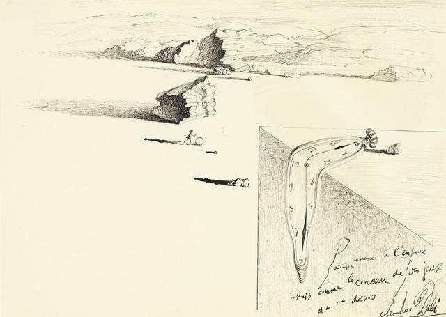 Salvador Dalí, 'Jeune fille au cerceau et montre molle ', 1932, Omer Tiroche Gallery