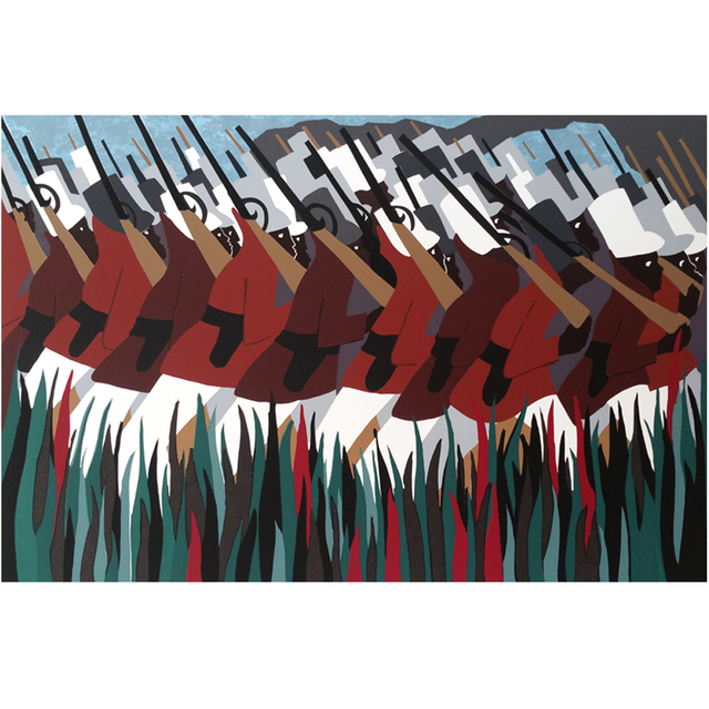 Jacob Lawrence, 'The March', 1995, E & S Art Gallery Inc.