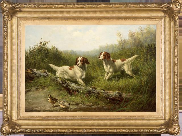 , 'Steady, Woodcock Shooting,' 1886, Godel & Co.
