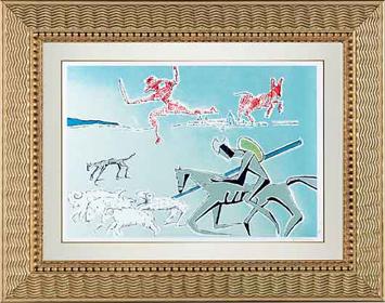"Salvador Dalí, '""Don Quixote: The Warrior's Heard"" Hand Signed Salvador Dali Lithograph', 1941-1957, Elena Bulatova Fine Art"