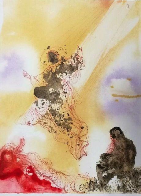 "Salvador Dalí, 'Sanctus Raphael et Tobias - From ""Biblia Sacra""', 1964-1965, Wallector"