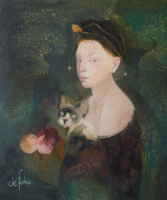 Françoise de Felice, 'La fille au chat (The girl with the cat)', 2019, Galerie Calderone