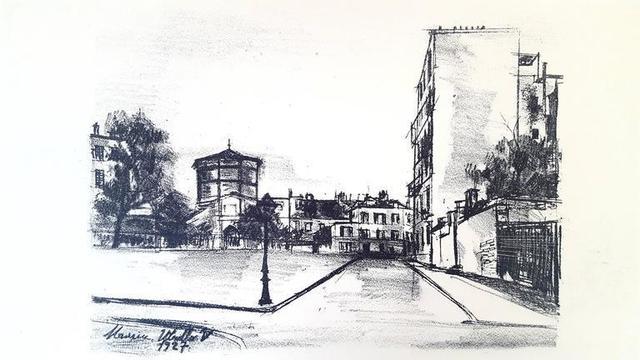 "Maurice Utrillo, 'Original Lithograph ""La Place Ravignan, Montmartre"" by Maurice Utrillo', 1927, Galerie Philia"