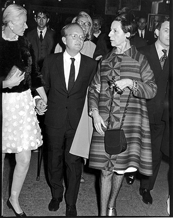 ", 'C.Z. Guest, Truman Capote, and Diana Vreeland, ""Trilogy"" Premiere at the Arts Theater, New York,' 1968, Staley-Wise Gallery"