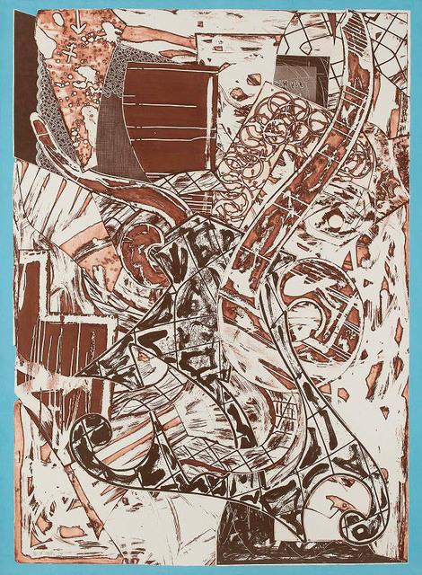 Frank Stella, 'Swan Engraving Framed II', 1984, Masterworks Fine Art