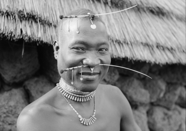 Hector Acebes, 'Basari Man, Guinea', 1953, Photography, Gelatine silver print, Nomad Gallery