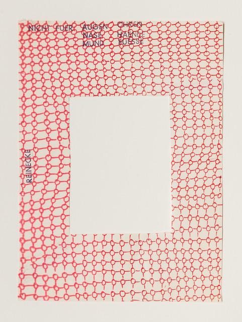 , 'Nicht für Augen, Nase, Mund, Ohren, Hände, Füße,' 1969, Beck & Eggeling