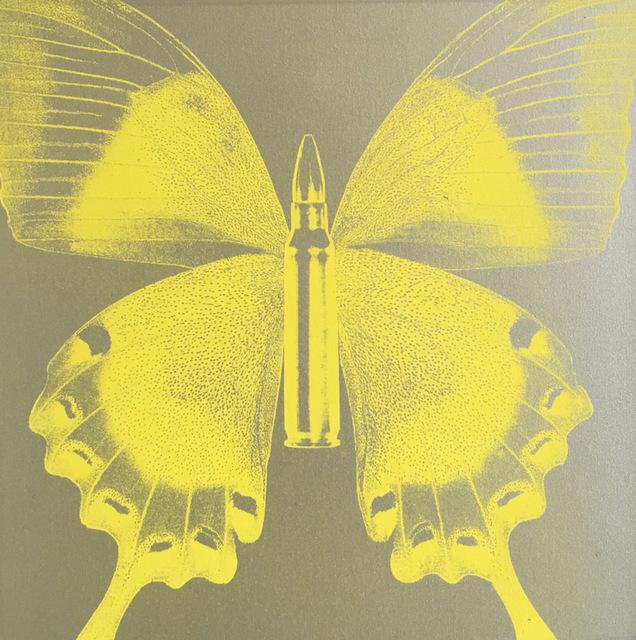 Rubem Robierb, 'Butterfly I (Yellow on Silver )', 2016, Taglialatella Galleries