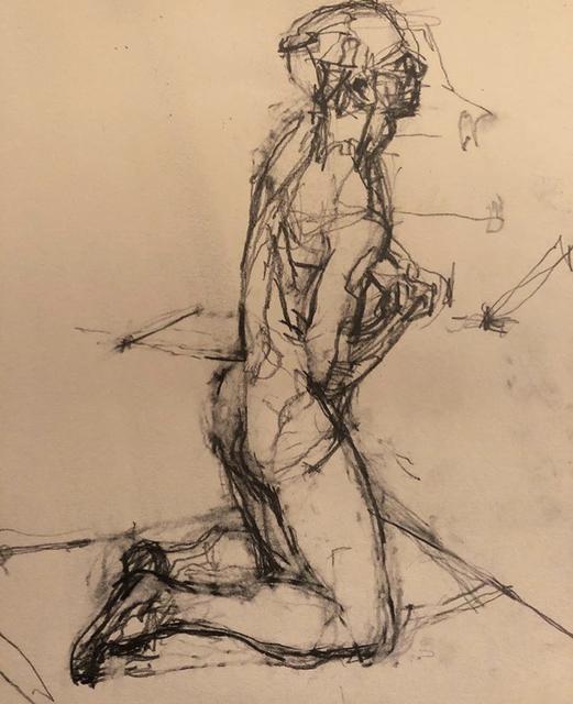 William Boyd Woods, 'Kneeling Male Nude', 2018, Robert Kananaj Gallery