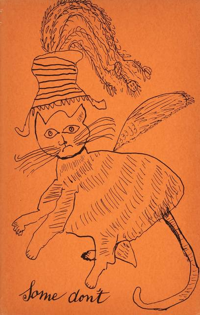 Andy Warhol, 'HOLY CATS BY ANDY WARHOL'S MOTHER (NOT IN F./S.)', 1954, Print, Complete set of 21 offset lithographs (including the cover), Doyle