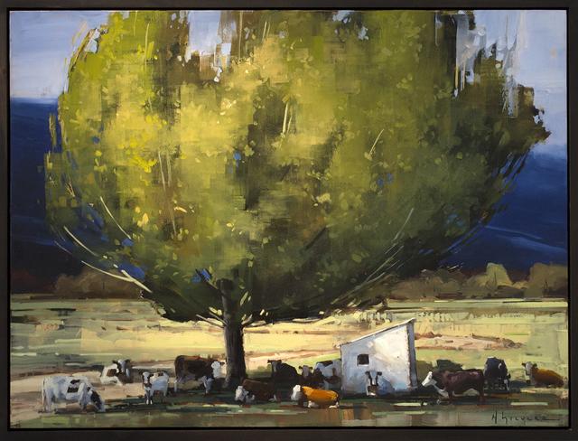 Matthew Sievers, 'Finding Shade', 2018, Painting, Oil on panel, Blue Rain Gallery