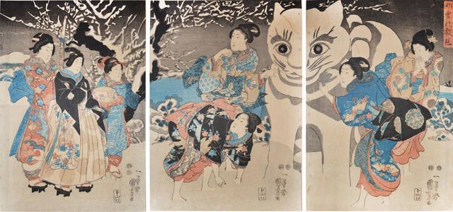 Utagawa Kuniyoshi, 'Snow Cat: The First Snow of the Year', ca. 1850, Ronin Gallery