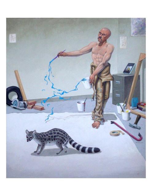 , 'PAINTER WITH GENET,' 2005, La Luz de Jesus Gallery
