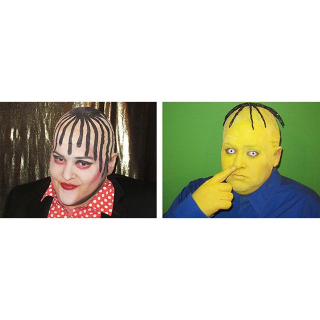 , ' Self-portrait as Boy George/Self-Portrait as Ralph Wiggum in Boy George Totally Looks Like Ralph Wiggum by eagles97 ,' 2012, Adam Parker Smith
