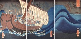 , 'Taira Ghosts Attacking Yoshitsune's Ship,' 1849-1852, Ronin Gallery